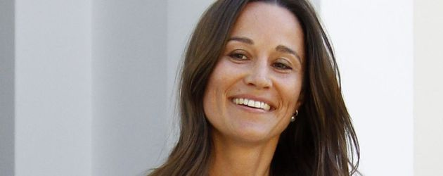 Pippa Middleton nach ihrer Verlobung in London