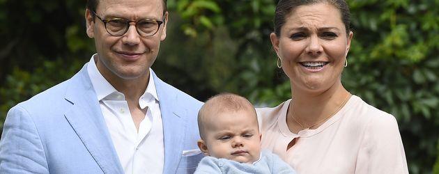 Prinz Daniel, Prinz Oscar und Prinzessin Victoria von Schweden