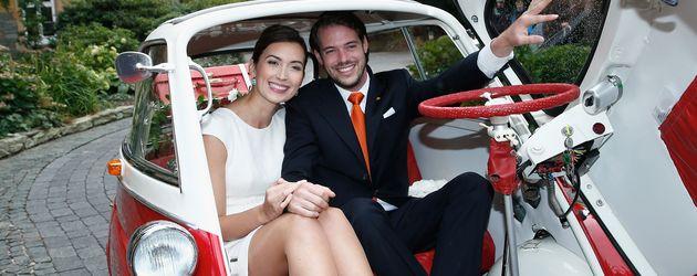 Prinzessin Claire von Luxemburg und Prinz Félix von Luxemburg 2013 in Deutschland
