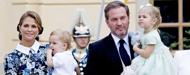 Prinzessin Madeleine mit Sohn Nicolas, Christopher O'Neill & Tochter Leonore