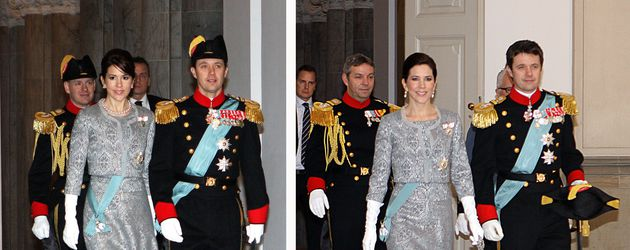 Prinzessin Mary 2008 und 2010 beim Neujahrsempfang in Kopenhagen