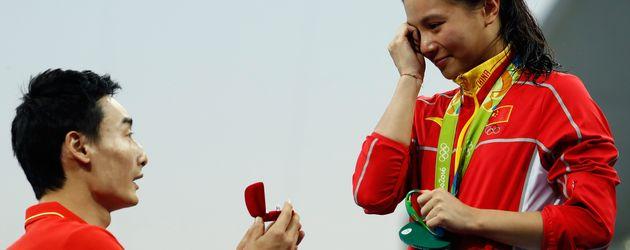 Qin Kai und He Zi bei den Olympischen Spielen