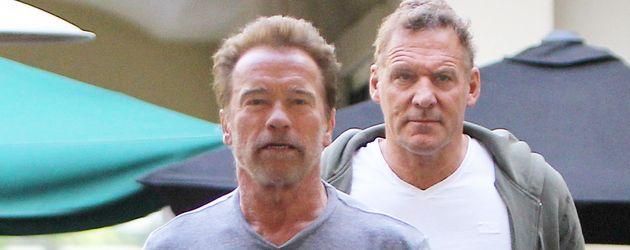 """n Ralf Möller und Arnold Schwarzenegger verlassen das """"Le Pain Quotidien"""""""