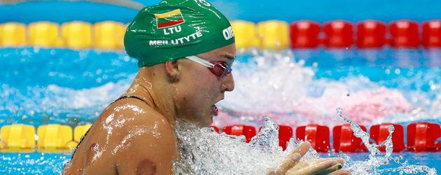 Die litauische Schwimmerin Rūta Meilutytė beim 100-Meter-Brustschwimmen in Rio 2016