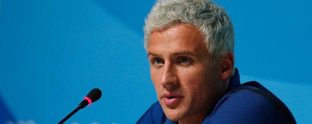 Ryan Lochte bei einer Pressekonferenz während der Olympischen Spiele 2016 in Rio