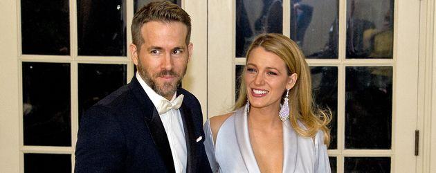 """Ryan Reynolds und Blake Lively beim """"Trudeau State Dinner"""" im Weißen Haus in Washington"""