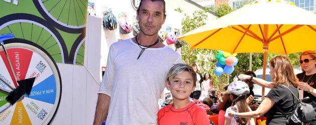 Sänger Gavin Rossdale mit Sohn Kingston