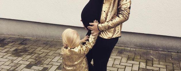 Sara Kulka während ihrer zweiten Schwangerschaft mit ihrer Tochter Matilda