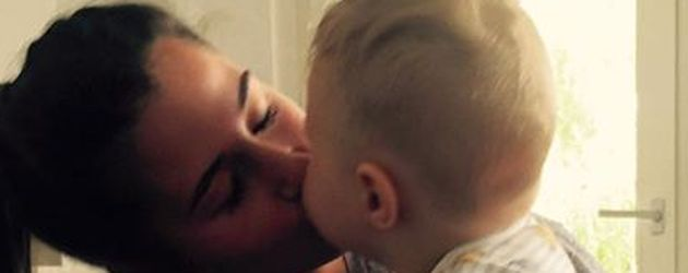 Sarah Lombardi mit ihrem Sohn Alessio
