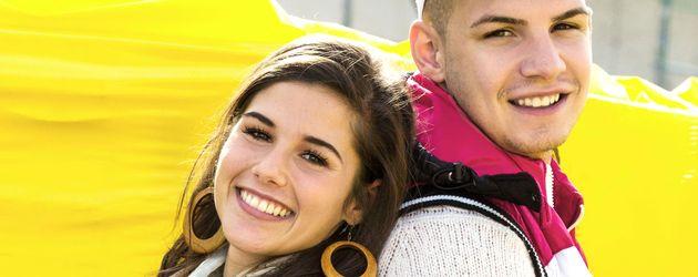 """Sarah und Pietro Lombardi für ihre RTL II-Sendung """"Sarah & Pietro bauen ein Haus"""""""
