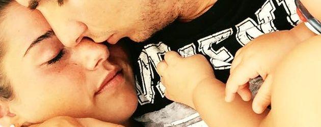 Sarah und Pietro Lombardi mit ihrem Sohn Alessio