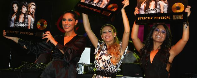 Senna, Mandy und Bahar von Monrose bei der Music Meets Media 2008