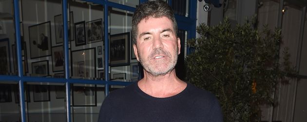 Simon Cowell vor einem Restaurant in London