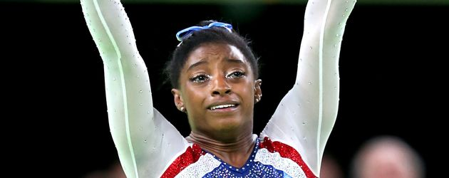 Simone Biles bei den olympischen Spielen in Rio de Janeiro