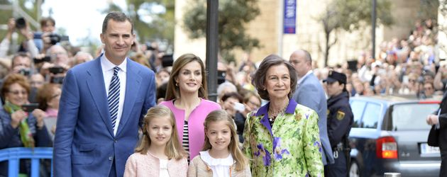 Spanische Royals bei Ostermesse