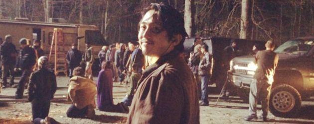 """Steven Yeun am Set von """"The Walking Dead"""""""