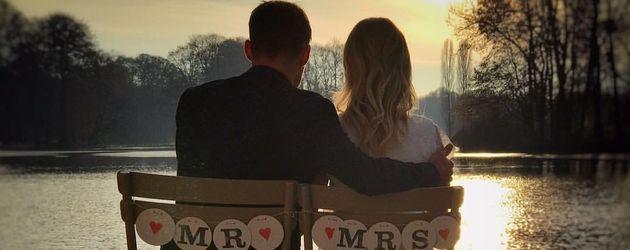 Sven Hannawald und Melissa Thieme nach ihrer Hochzeit