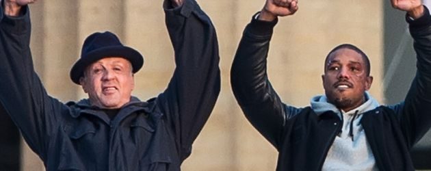 Sylvester Stallone und Michael B. Jordan