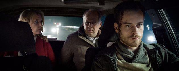 """Tatort: Taxi nach Leipzig"": Lindholm (Furtwängler), Borowski (Milberg) & Klapproth (Bartholomäi)"
