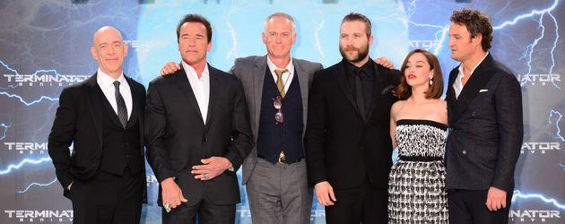 Emilia Clarke, Arnold Schwarzenegger, Jason Clarke und J.K. Simmons