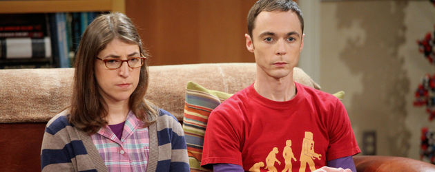 "Mayim Bialik und Jim Parsons bei ""The Big Bang Theory"""