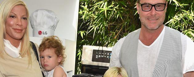 Tori Spelling und Dean McDermott mit ihren vier Kindern