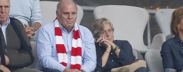 Uli und Susi Hoeneß in der Allianz Arena