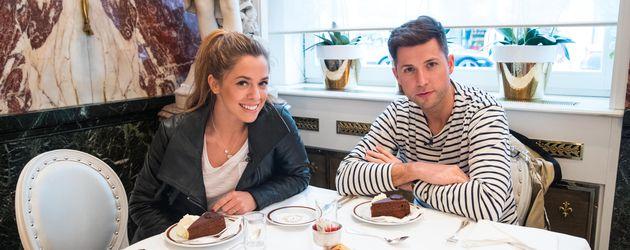 Vanessa Mai und Andreas Ferber im Hotel Sacher in Wien