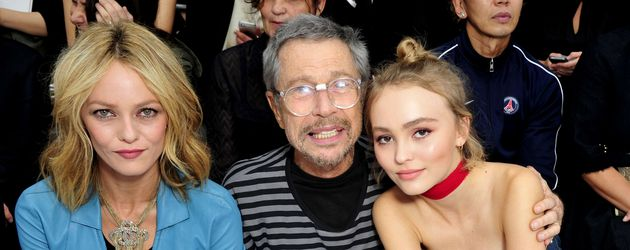 Vanessa Paradis, Jean Paul Goude & Lily-Rose Depp bei der Paris Fashion Week
