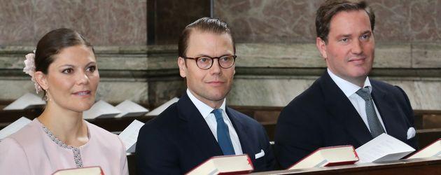 Prinzessin Victoria von Schweden, Prinz Daniel von Schweden und Christopher O'Neill