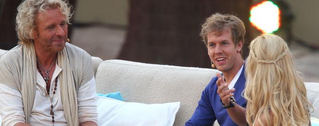 Thomas Gottschalk und Sebastian Vettel