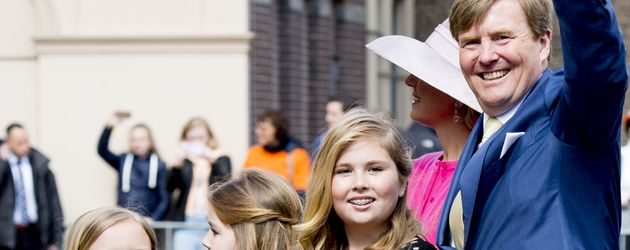 König Willem-Alexander, Prinzessin Ariane Wilhelmina Máxima Ines und Prinzessin Catharina-Amalia Bea