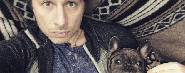 Schauspieler Zach Braff und Hund Scooter